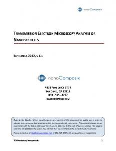 TRANSMISSION ELECTRON MICROSCOPY ANALYSIS OF NANOPARTICLES