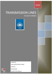 TRANSMISSION LINES IN SAUDI ARABIA