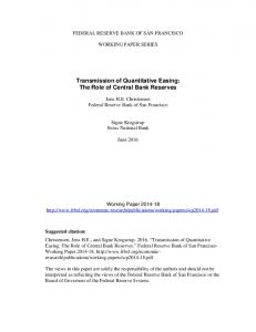 Transmission of Quantitative Easing: The Role of Central Bank Reserves