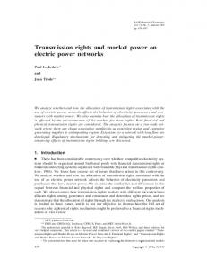 Transmission rights and market power on electric power networks