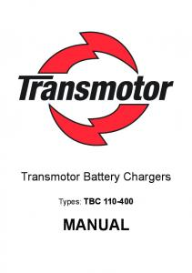 Transmotor Battery Chargers. Types: TBC MANUAL