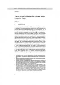 Transnational collective bargaining in the European Union