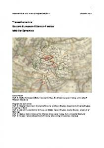 Transottomanica: Eastern European-Ottoman-Persian Mobility Dynamics