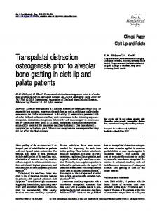 Transpalatal distraction osteogenesis prior to alveolar bone grafting in cleft lip and palate patients