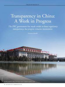 Transparency in China: A Work in Progress