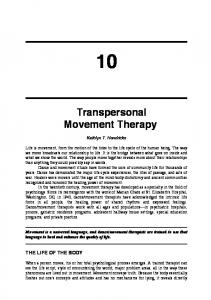 Transpersonal Movement Therapy