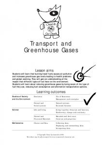 Transport and Greenhouse Gases