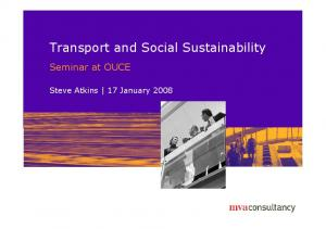 Transport and Social Sustainability
