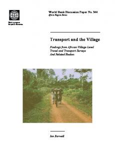 Transport and the Village