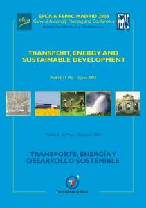 TRANSPORT, ENERGY AND SUSTAINABLE DEVELOPMENT