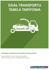 Transport pojazdów jeżdżących pomiędzy centrami składowania BCAuto Enchères we Francji oraz do naszego centrum składowania w Polsce
