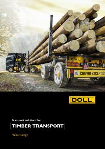 Transport solutions for TIMBER TRANSPORT. Product range