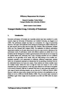 Transport Studies Group, University of Westminster