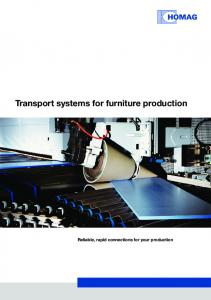 Transport systems for furniture production