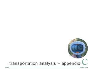 transportation analysis appendix C
