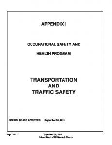 TRANSPORTATION AND TRAFFIC SAFETY