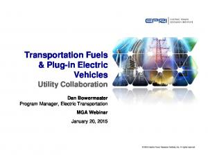 Transportation Fuels & Plug-in Electric Vehicles Utility Collaboration