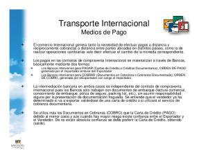 Transporte Internacional Medios de Pago