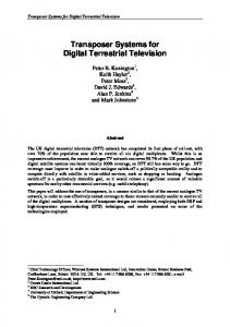 Transposer Systems for Digital Terrestrial Television