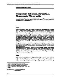 Transposición de Grandes Arterias (TGA), TGA completa, TGA corregida