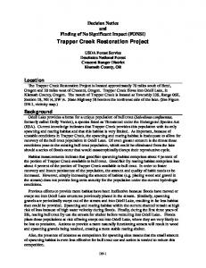 Trapper Creek Restoration Project