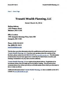 Trasatti Wealth Planning, LLC