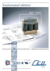 Trasformatori elettrici. dal Italy EN EC. trasformatori elettrici electrical transformers elektrischen transformatoren D - TM SERIES C US