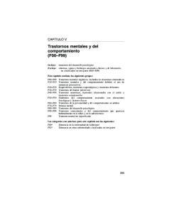 Trastornos mentales y del comportamiento (F00 F99)