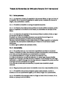 Tratado de Montevideo de 1940 sobre Derecho Civil Internacional