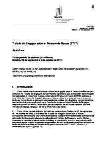 Tratado de Singapur sobre el Derecho de Marcas (STLT)