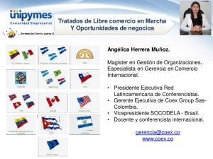 Tratados de Libre comercio en Marcha Y Oportunidades de negocios