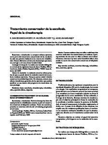 Tratamiento conservador de la escoliosis. Papel de la cinesiterapia
