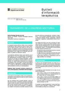 TRATAMIENTO DE LA ENURESIS NOCTURNA