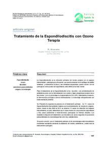 Tratamiento de la Espondilodiscitis con Ozono Terapia
