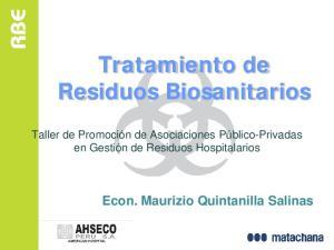 Tratamiento de Residuos Biosanitarios