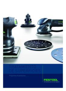 TRATAMIENTO DE SUPERFICIES. Programa de productos