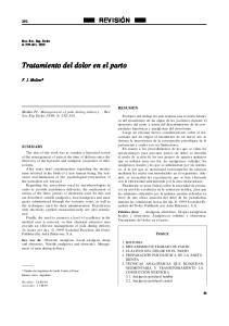 Tratamiento del dolor en el parto