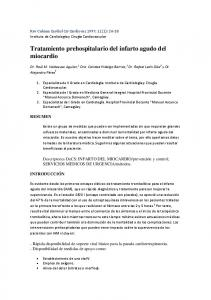 Tratamiento prehospitalario del infarto agudo del miocardio