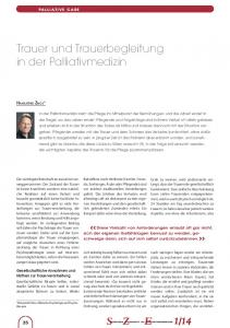 Trauer und Trauerbegleitung in der Palliativmedizin