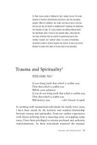 Trauma and Spirituality 1