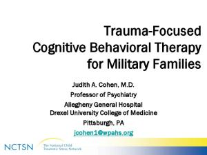 Trauma-Focused Cognitive Behavioral Therapy for Military Families