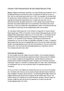 TRAUMA: POSTTRAUMATISCHE BELASTUNGSSTÖRUNG (PTBS)