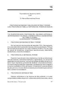 Traumeatismos de pierna, tobillo y pie. Dr. Manuel Barrenechea Olivera