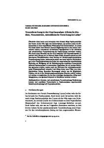 Traumforschung in der Psychoanalyse: Klinische Studien, Traumserien, extraklinische Forschung im Labor *