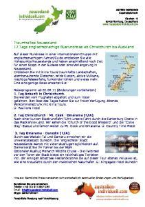Traumhaftes Neuseeland 17 Tage englischsprachige Busrundreise ab Christchurch bis Auckland