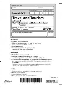 Travel and Tourism. Advanced Unit 10: Promotion and Sales in Travel and Tourism