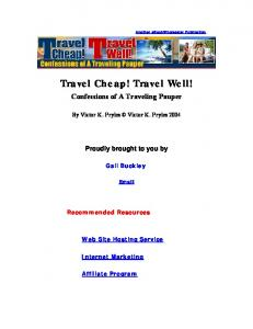 Travel Cheap! Travel Well!