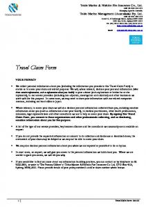 Travel Claim Form YOUR PRIVACY