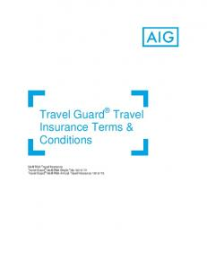 Travel Guard Travel Insurance Terms & Conditions