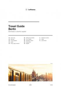 Travel Guide Berlin Germany s colorful capital